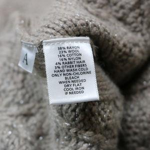 LOFT Sweaters - The Loft Woman's Fuzzy Warm Tan Sweater w/ Silver